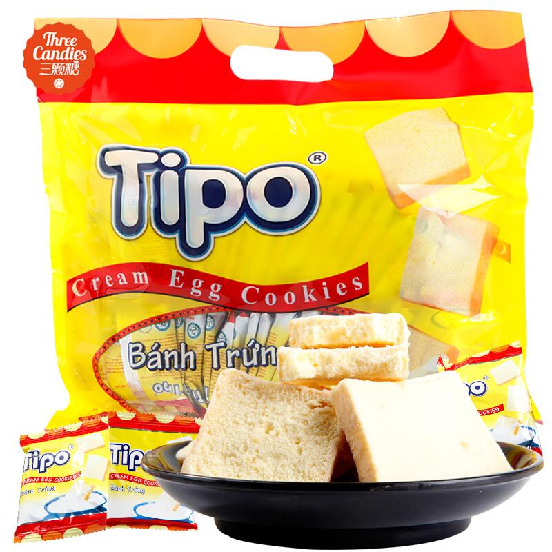 越南特产 进口食品Tipo面包干300g 牛奶鸡蛋饼干办公小吃休闲零食 满额包邮