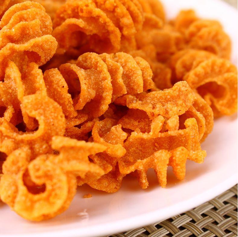天津特产  狗牙儿比萨卷膨化食品烧烤味25克30袋/包休闲小零食