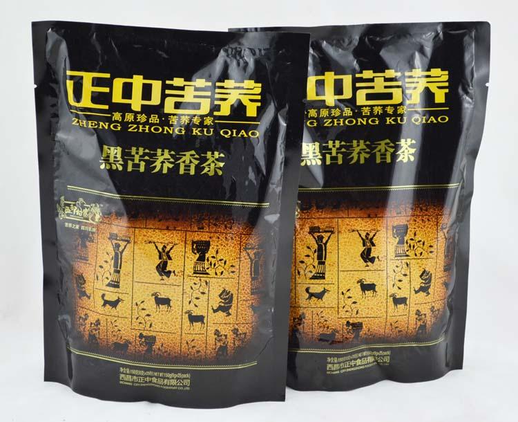 四川特产 西部村寨正中苦荞黑苦荞茶香茶150g袋