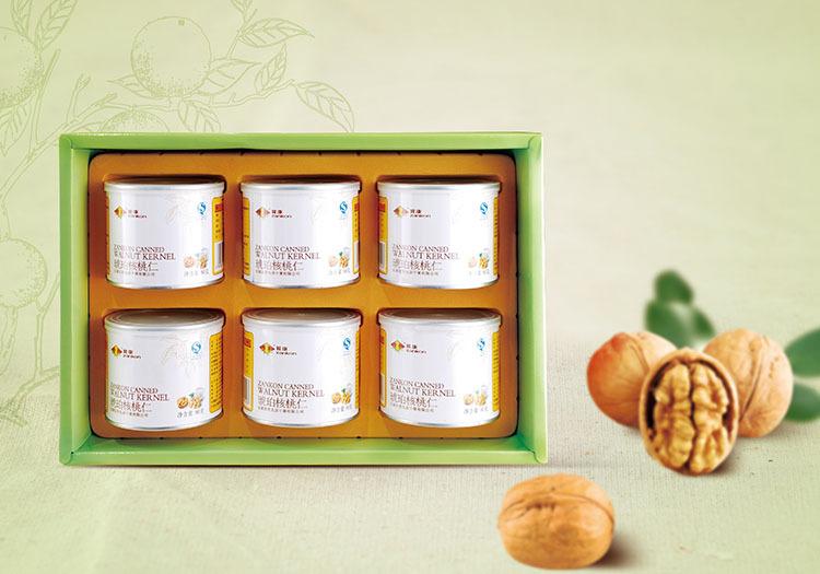 河北特产 赞康核桃仁罐头6罐礼盒装 琥珀味甜味核桃仁