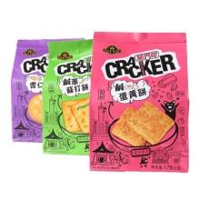 台湾进口饼干好祺西门町杏仁饼 咸蛋黄饼 咸葱苏打饼特色零食